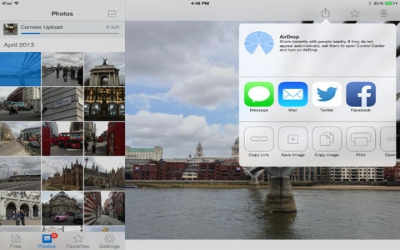 Dropbox spruces up its app for iOS 7